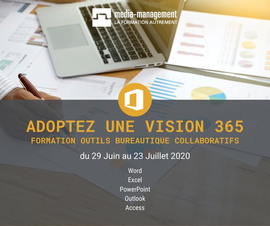 Formez vous aux outils bureautique collaboratifs grâce aux formations que nous proposons